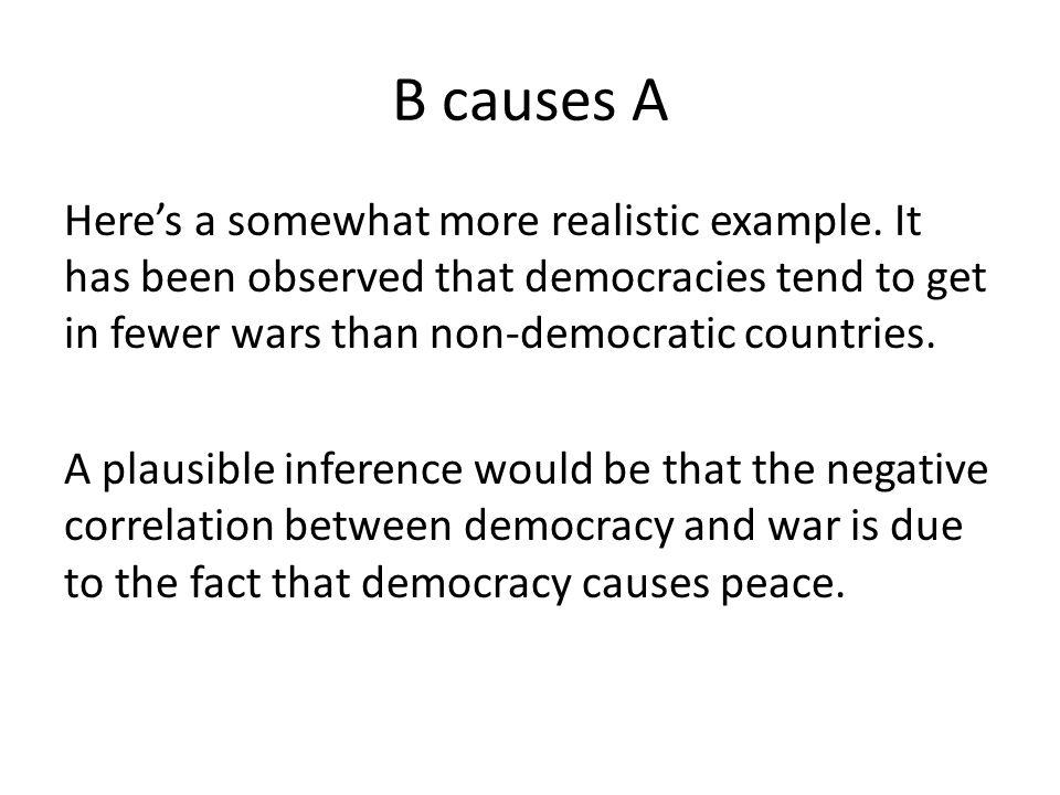 B causes A