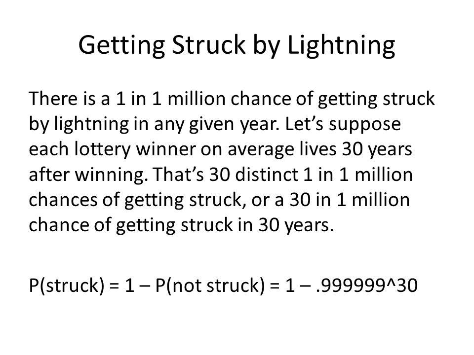 Getting Struck by Lightning