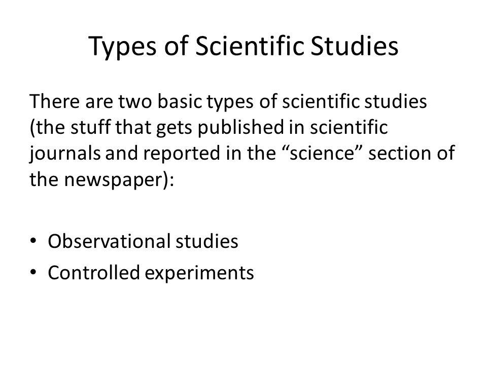 Types of Scientific Studies