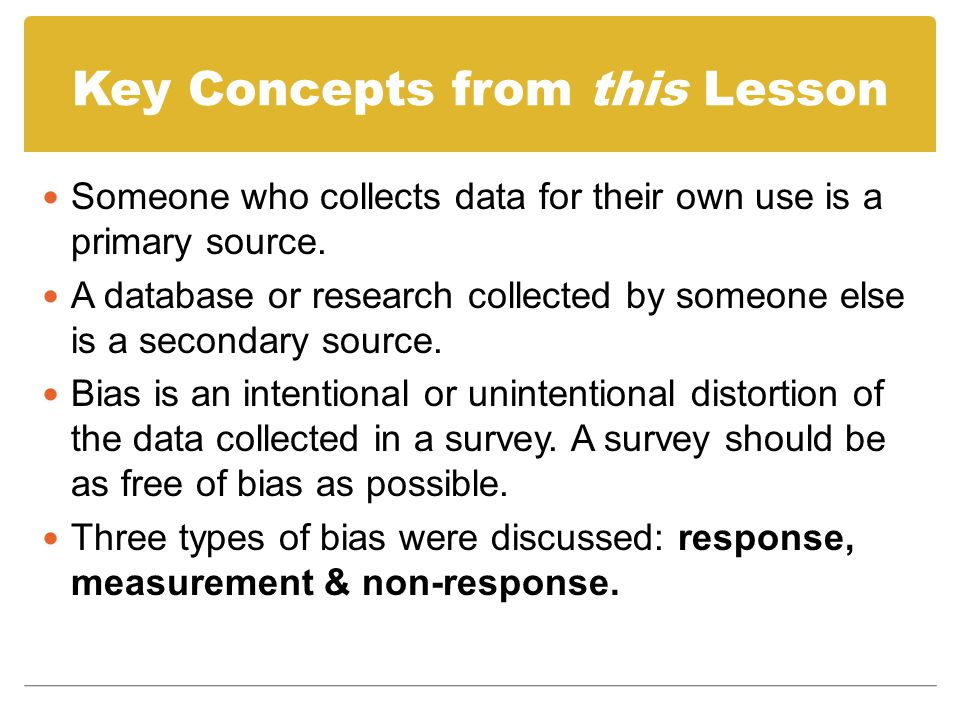 Key Concepts from this Lesson