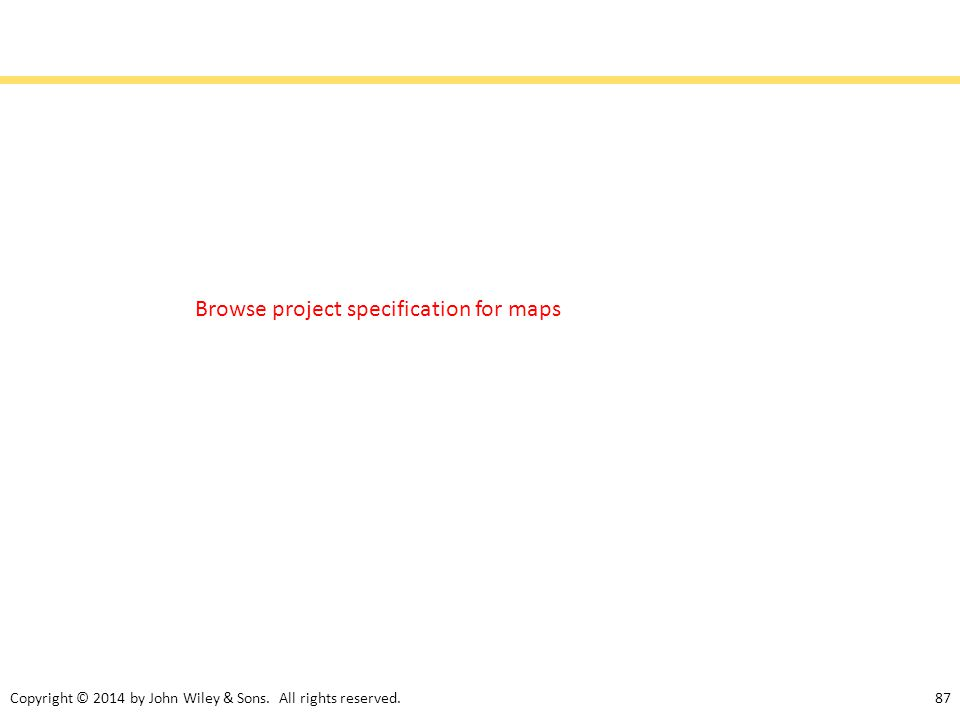 Browse project specification for maps