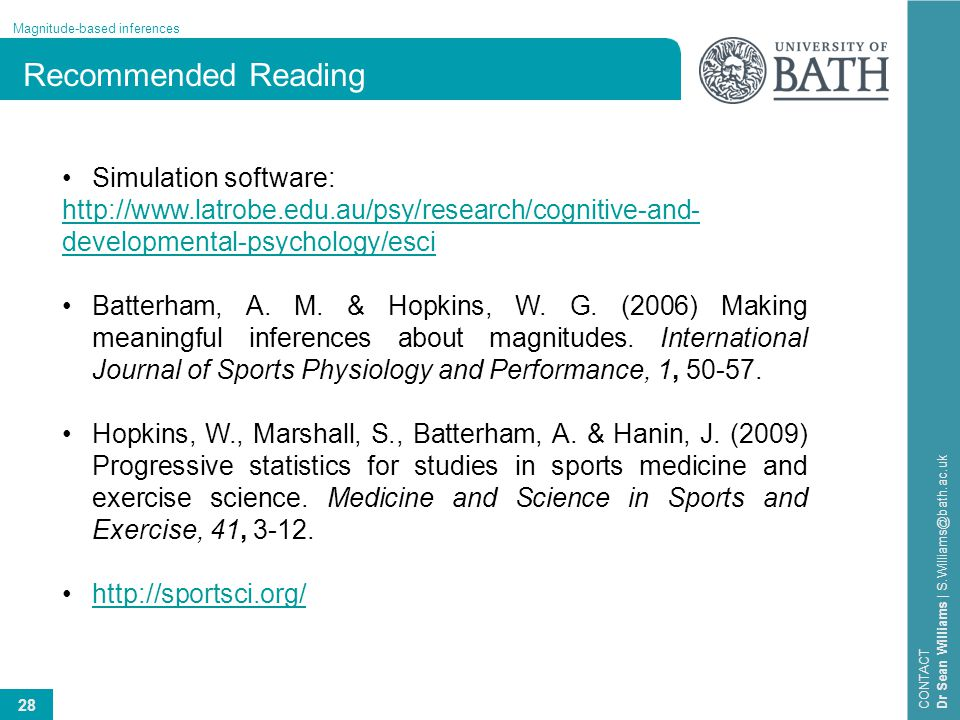 Recommended Reading Simulation software: