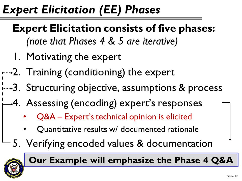 Expert Elicitation (EE) Phases