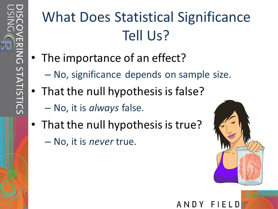 What Does Statistical Significance Tell Us