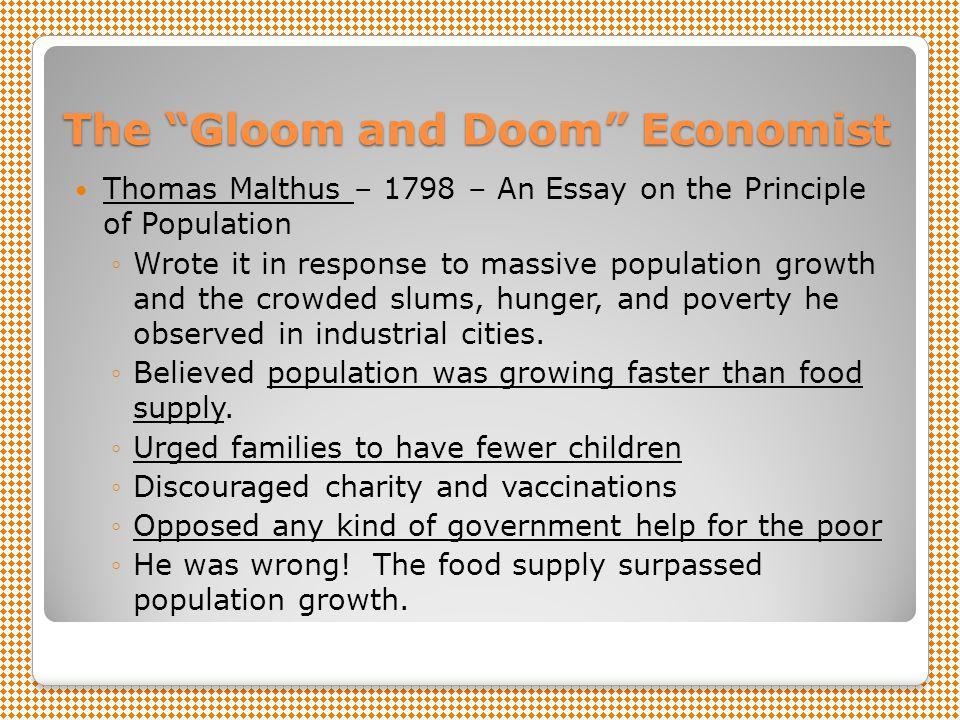 The Gloom and Doom Economist