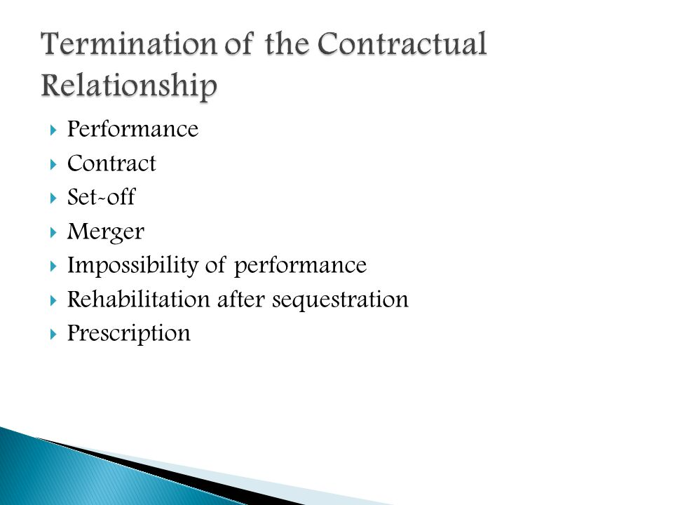 of the contractual relationship