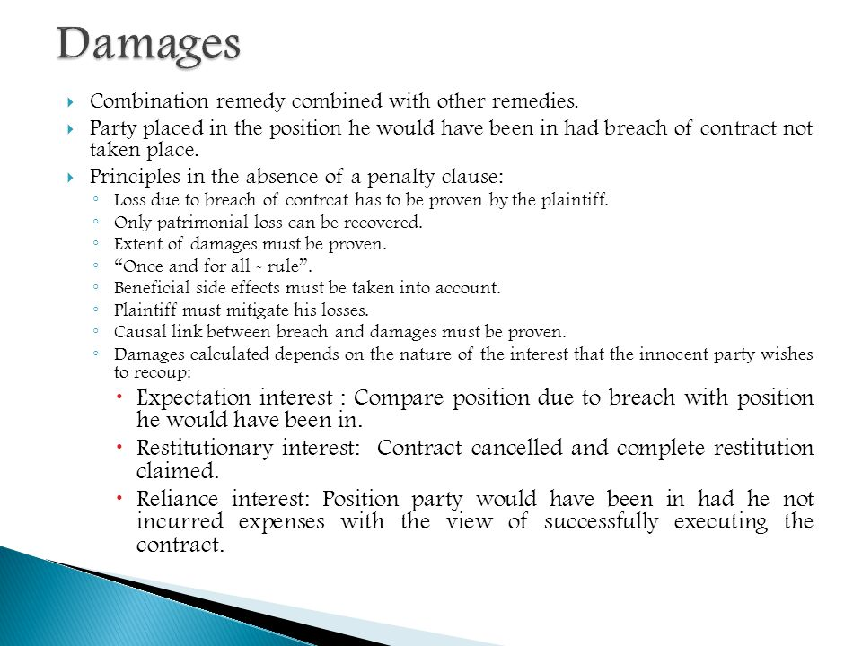 Theme   Remedies For Breach Of Contract  Ppt Download