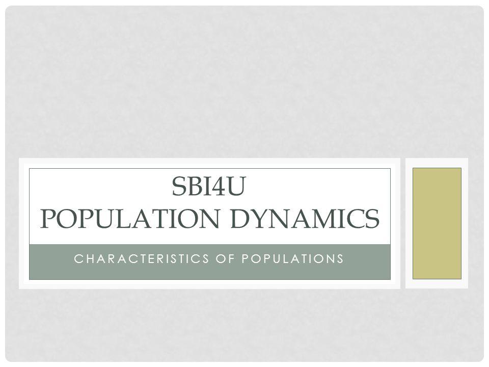SBI4U Population Dynamics