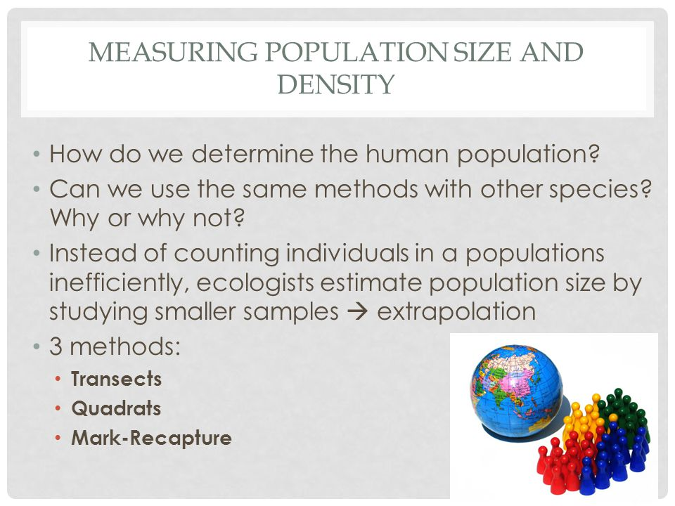 measuring Population Size and Density