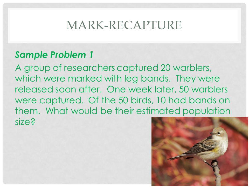 Mark-Recapture Sample Problem 1