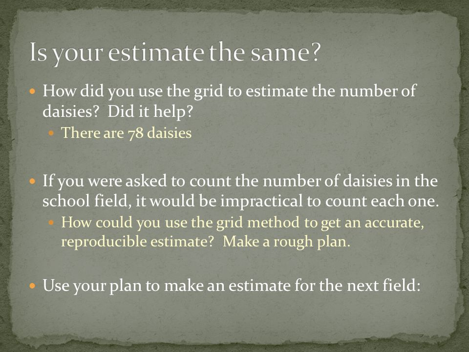 Is your estimate the same