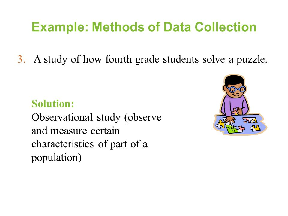 Example: Methods of Data Collection