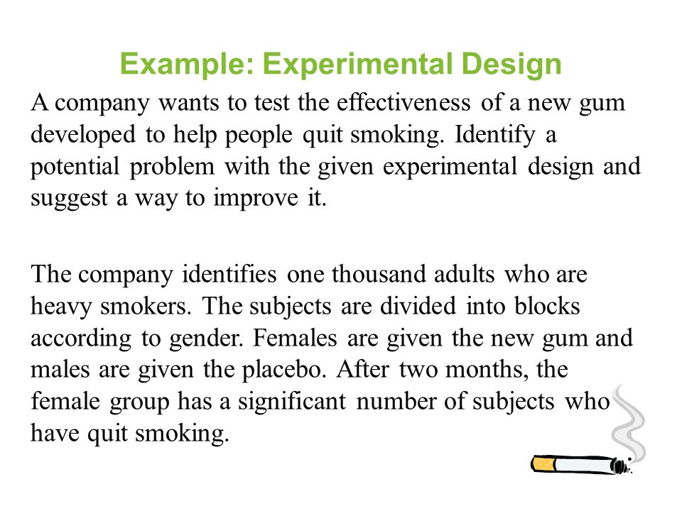 Example: Experimental Design