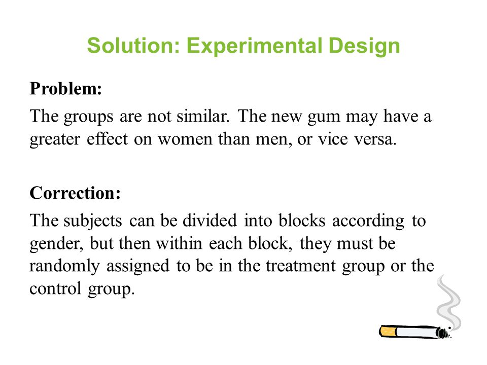 Solution: Experimental Design