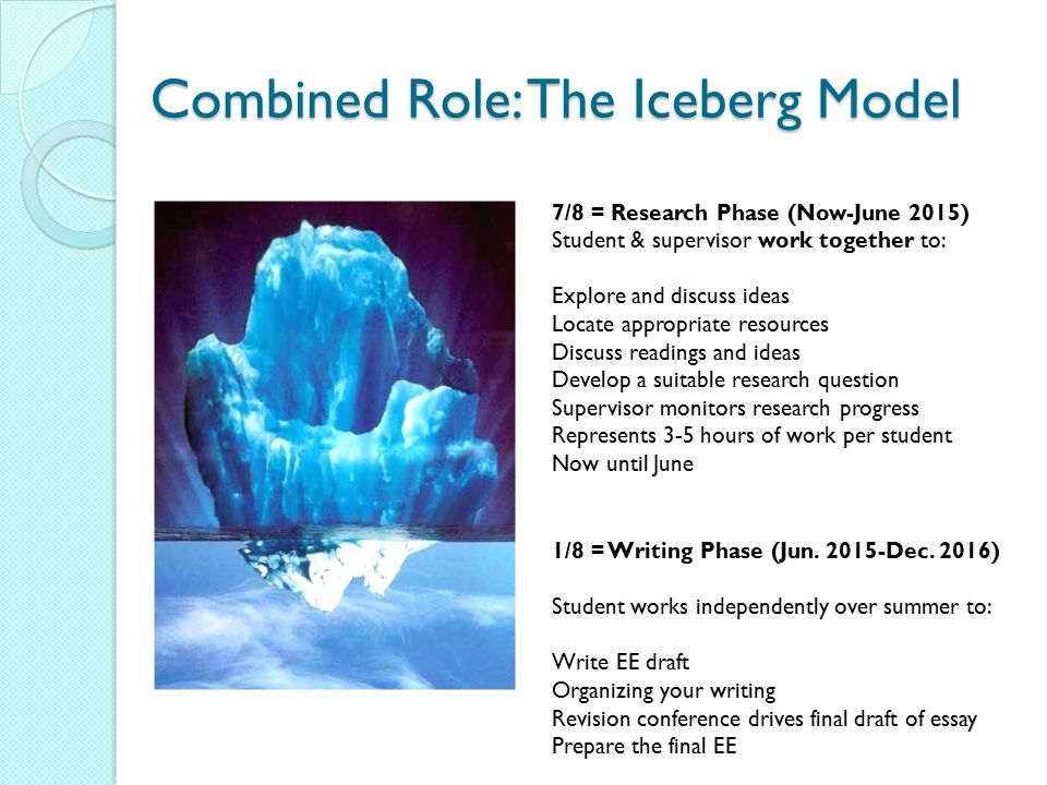 Combined Role: The Iceberg Model