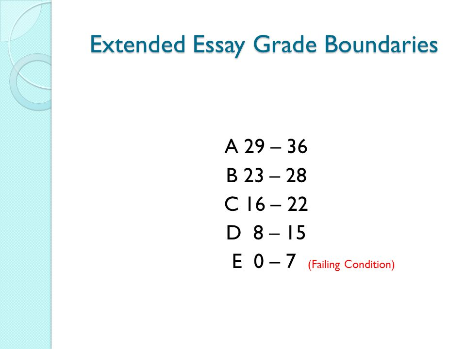 Extended Essay Grade Boundaries