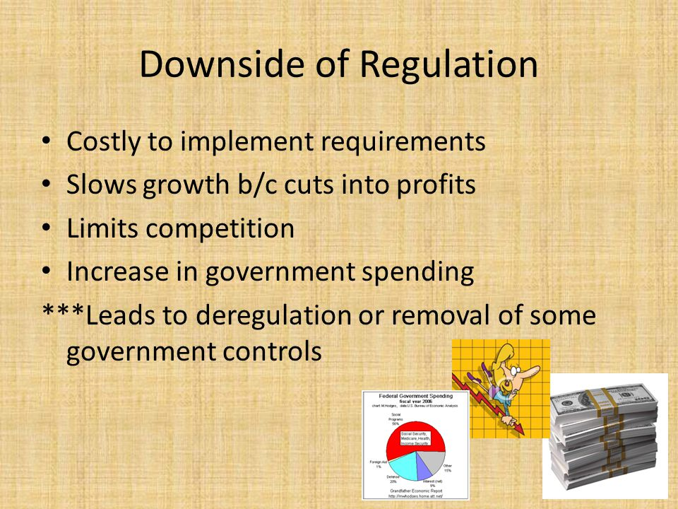 Downside of Regulation