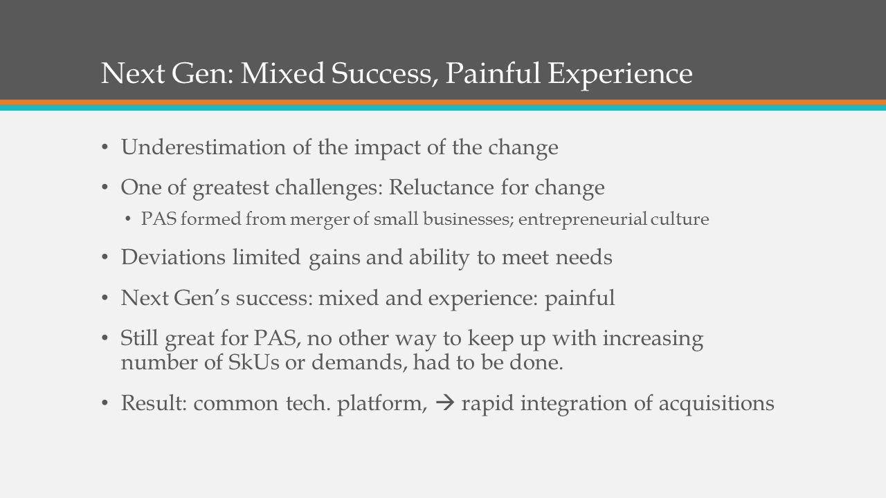 Next Gen: Mixed Success, Painful Experience