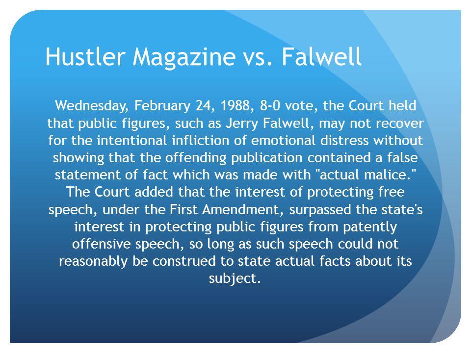 Hustler Magazine vs. Falwell