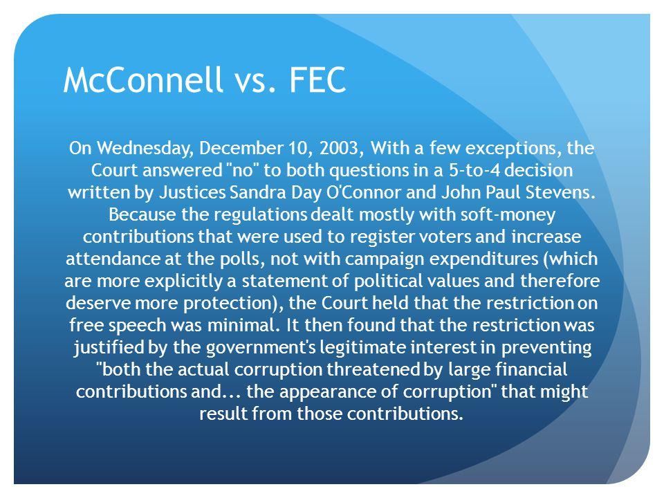 McConnell vs. FEC