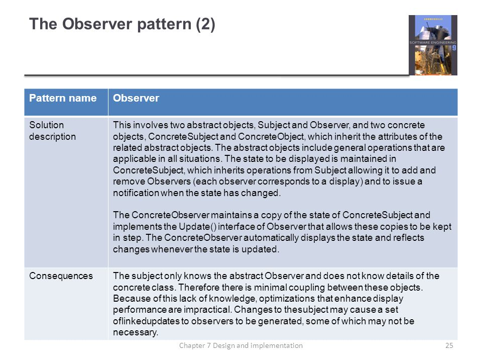 The Observer pattern (2)
