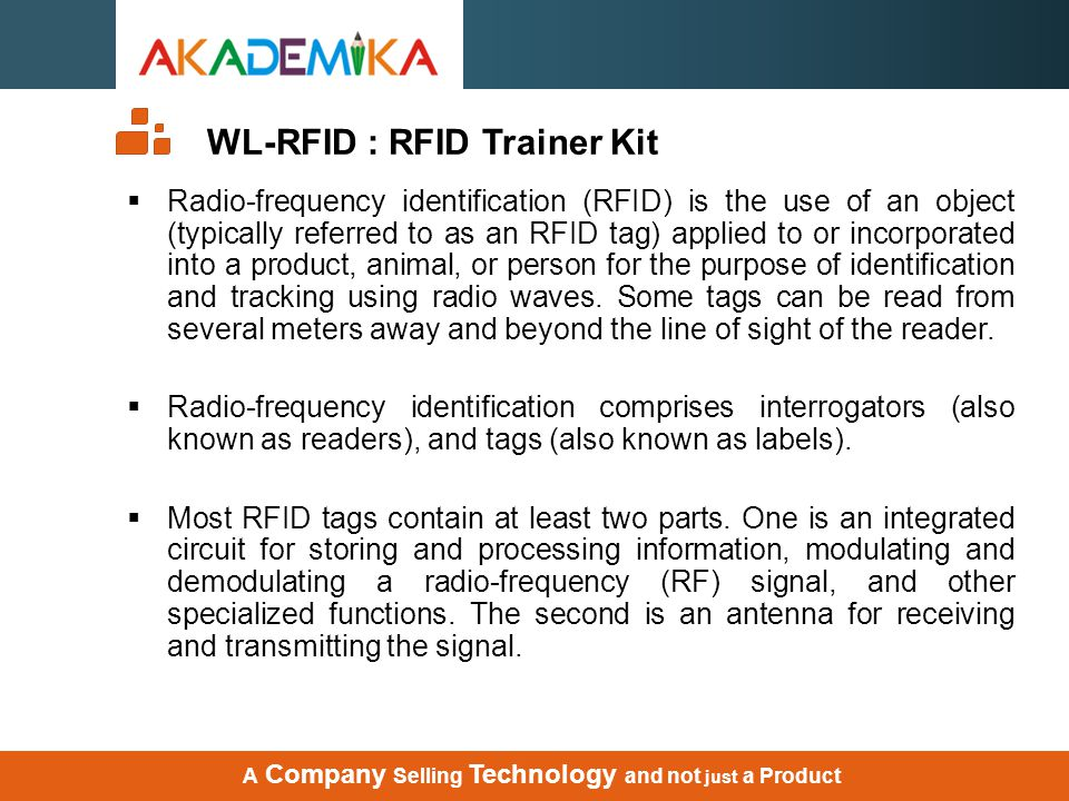 WL-RFID : RFID Trainer Kit