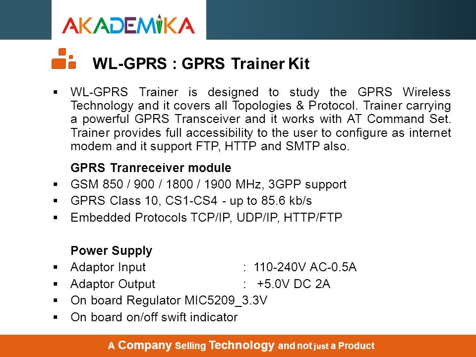 WL-GPRS : GPRS Trainer Kit