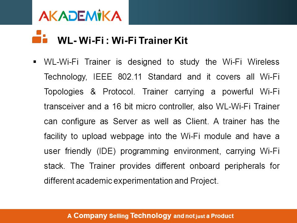 WL- Wi-Fi : Wi-Fi Trainer Kit