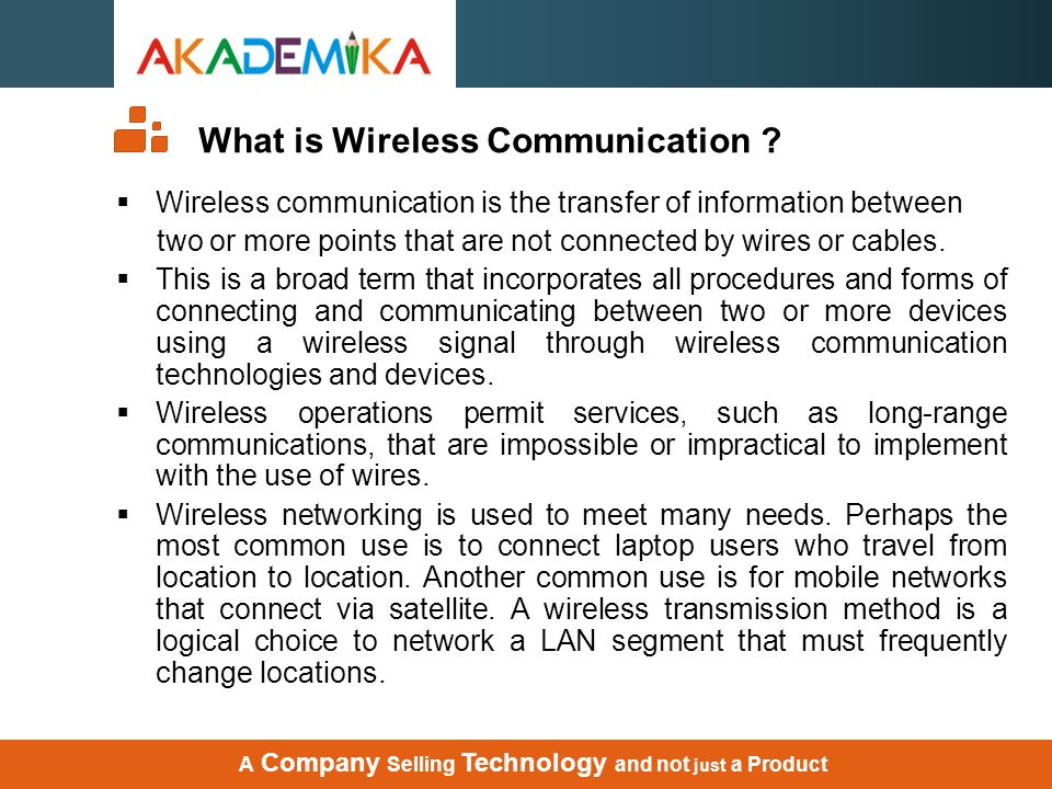What is Wireless Communication
