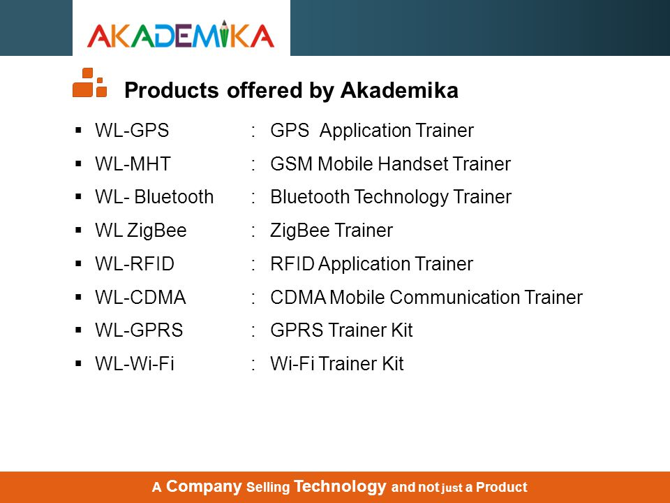 Products offered by Akademika