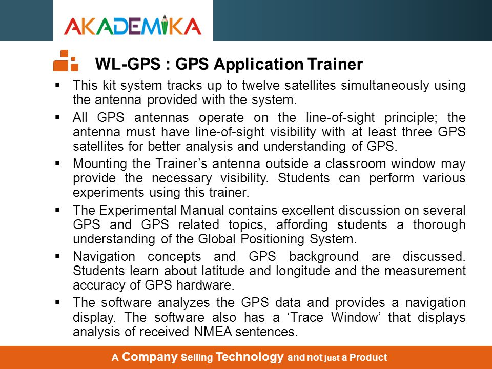 WL-GPS : GPS Application Trainer
