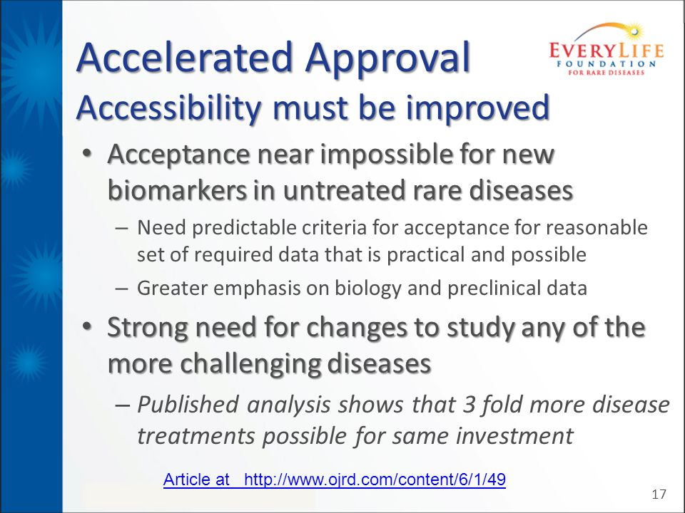 Accelerated Approval Accessibility must be improved