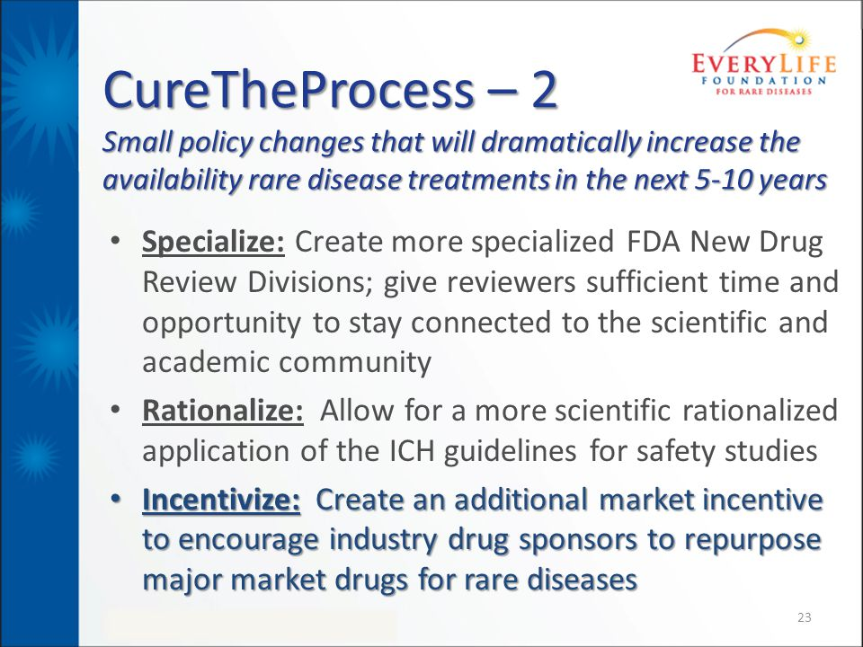 CureTheProcess – 2 Small policy changes that will dramatically increase the availability rare disease treatments in the next 5-10 years
