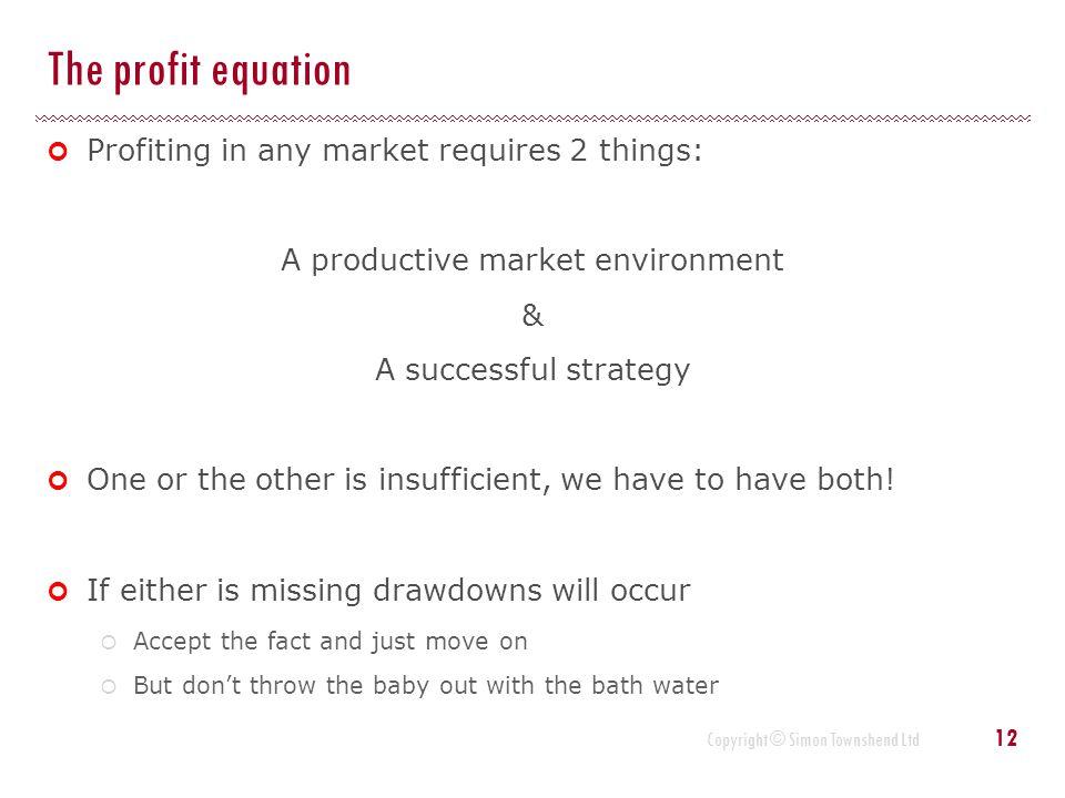 A productive market environment
