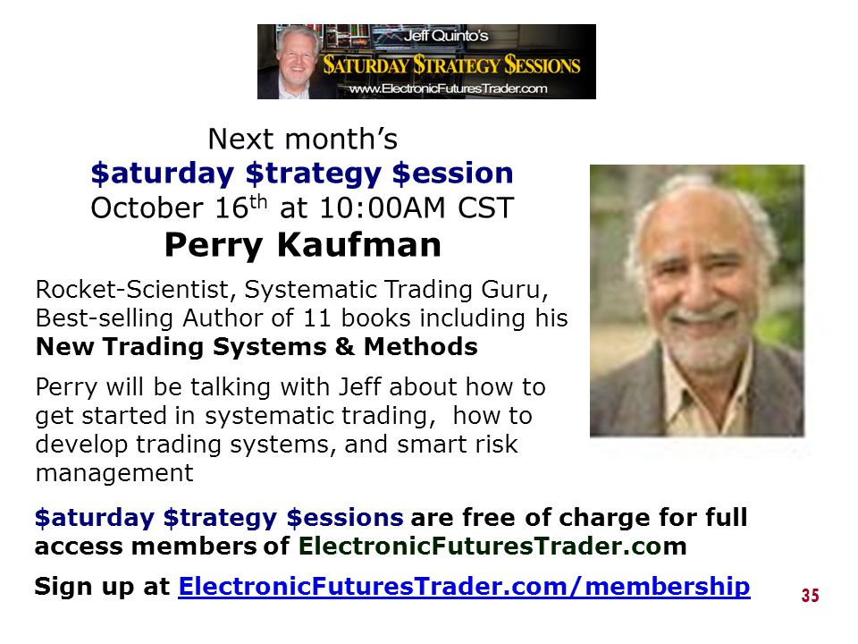 $aturday $trategy $ession October 16th at 10:00AM CST