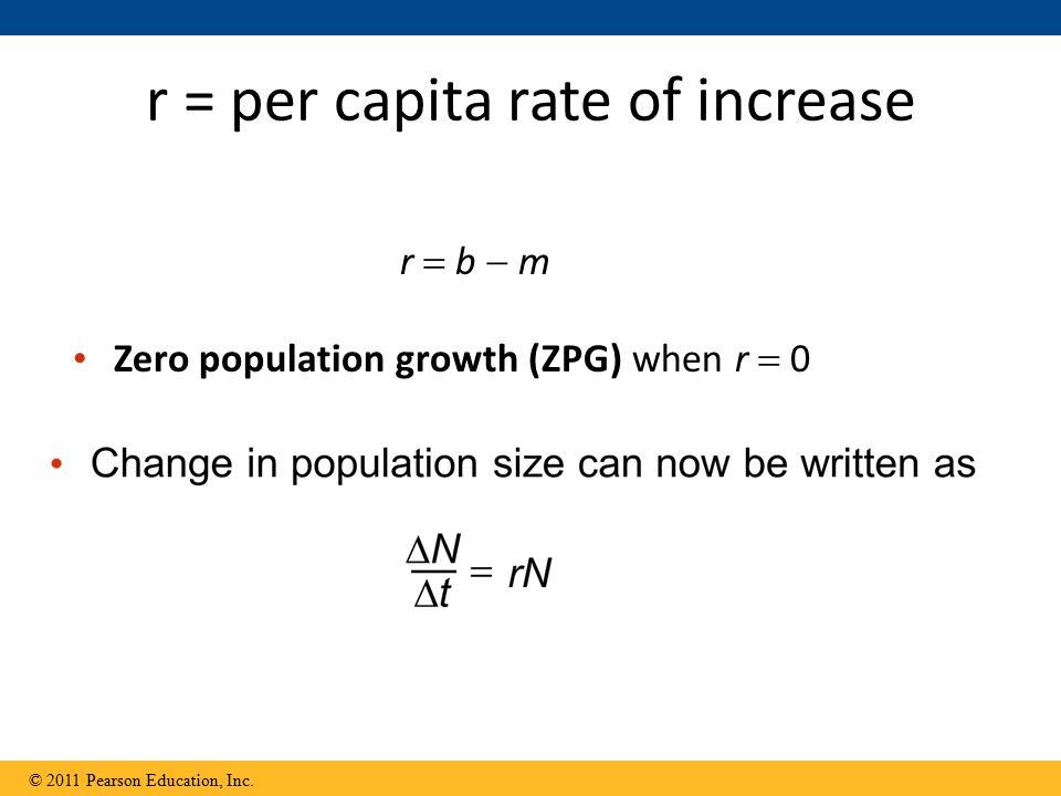 r = per capita rate of increase