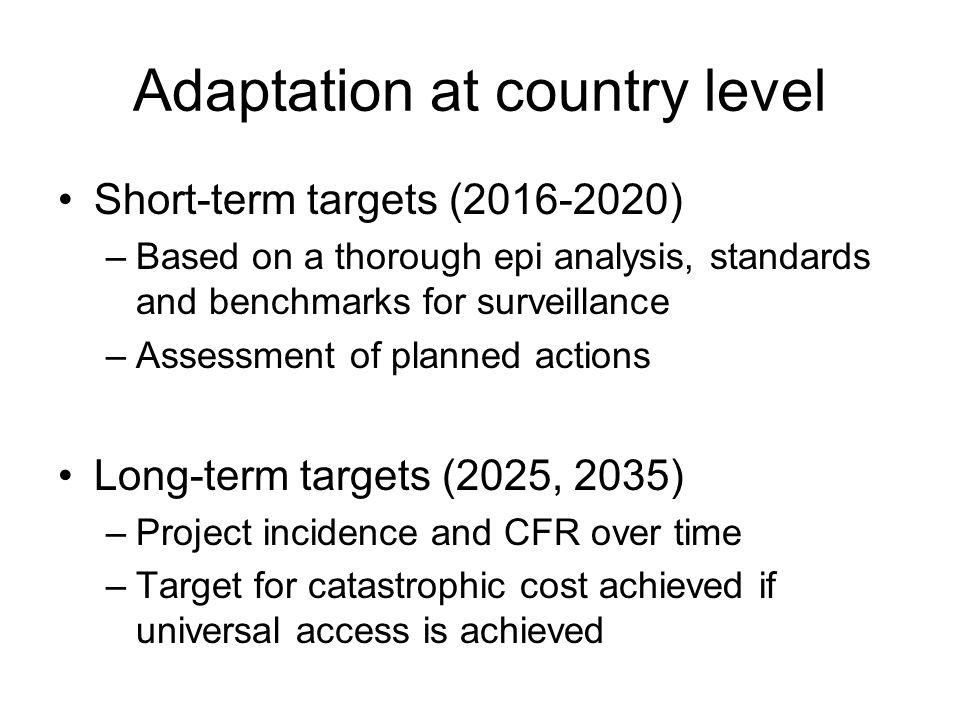 Adaptation at country level