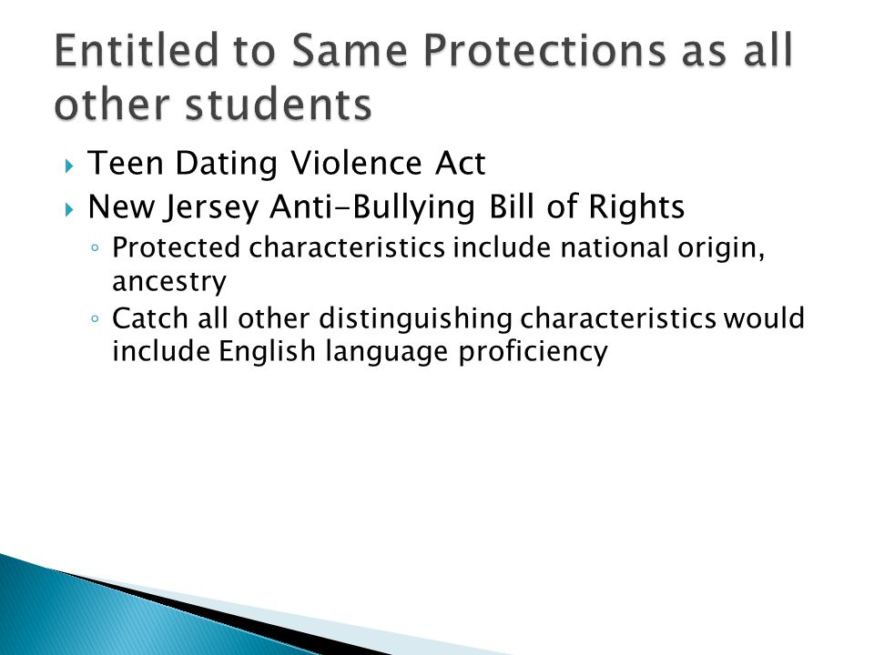 Entitled to Same Protections as all other students