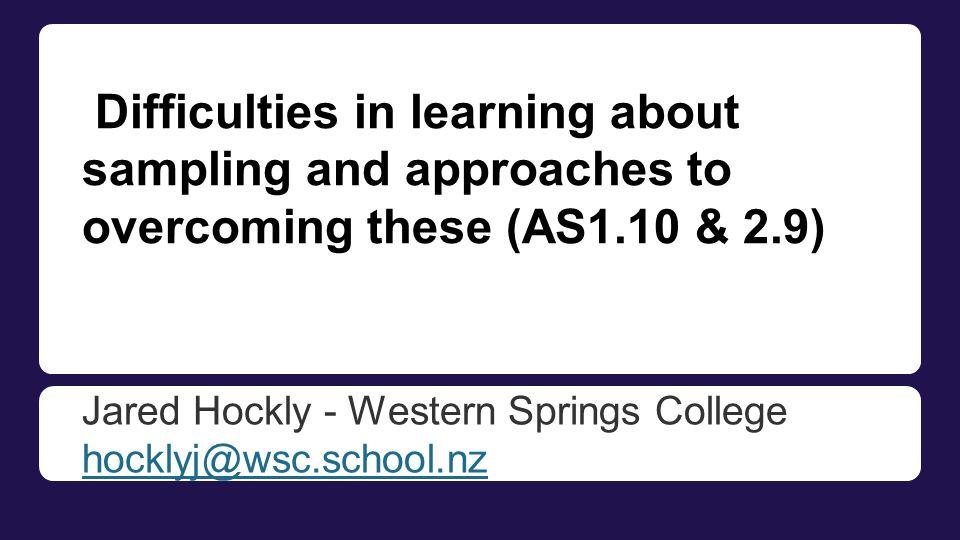 Jared Hockly - Western Springs College hocklyj@wsc.school.nz