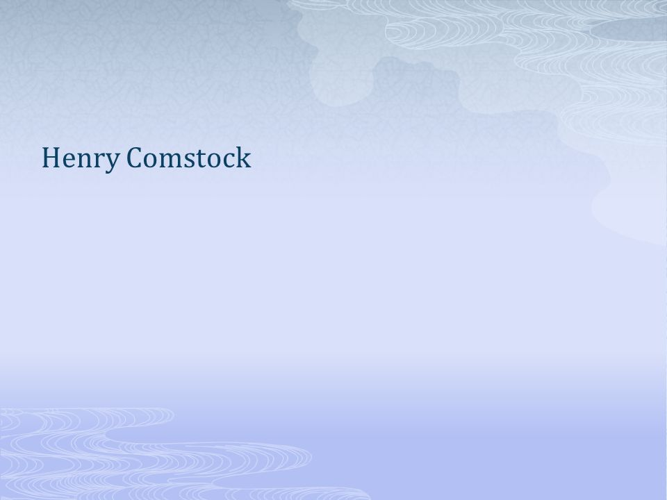 Henry Comstock