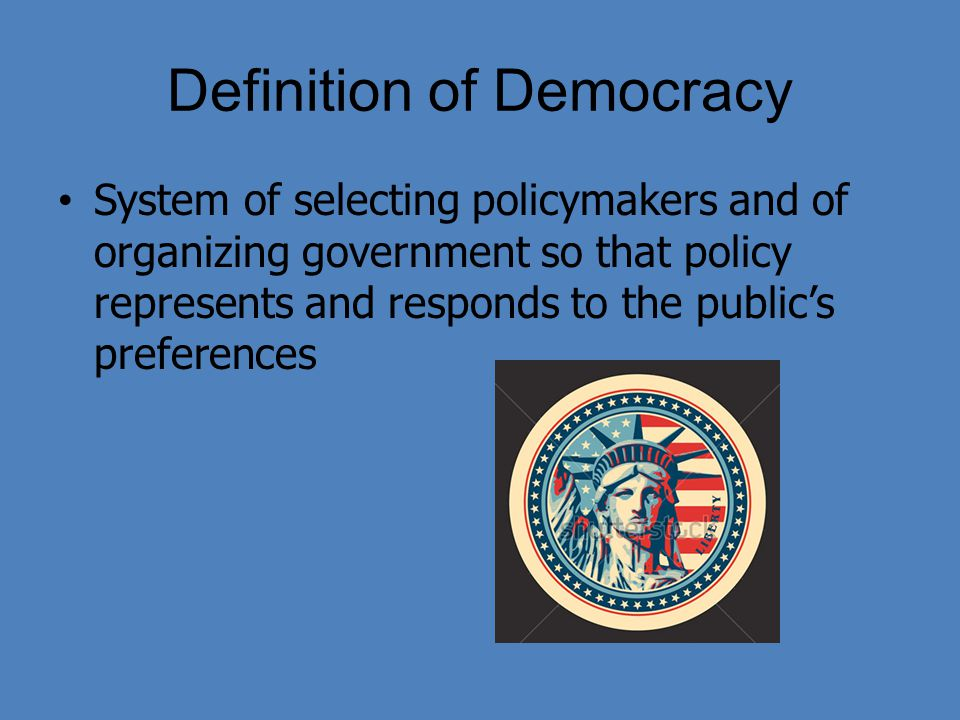 democracy as a form of government Democracy is the only form of government in the world that is widely viewed as morally legitimate it is the only form of government that is capable of fully.