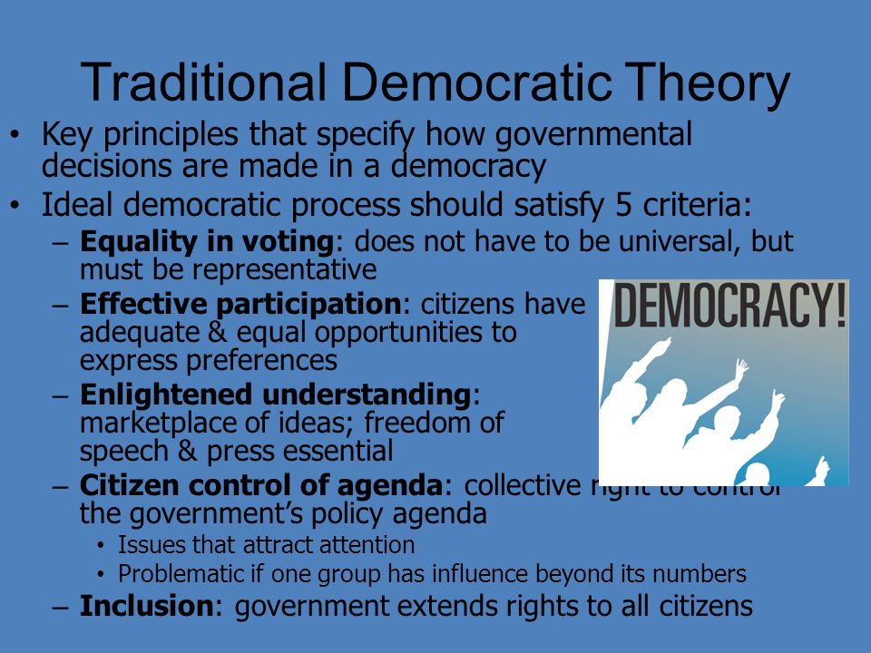 Traditional Democratic Theory