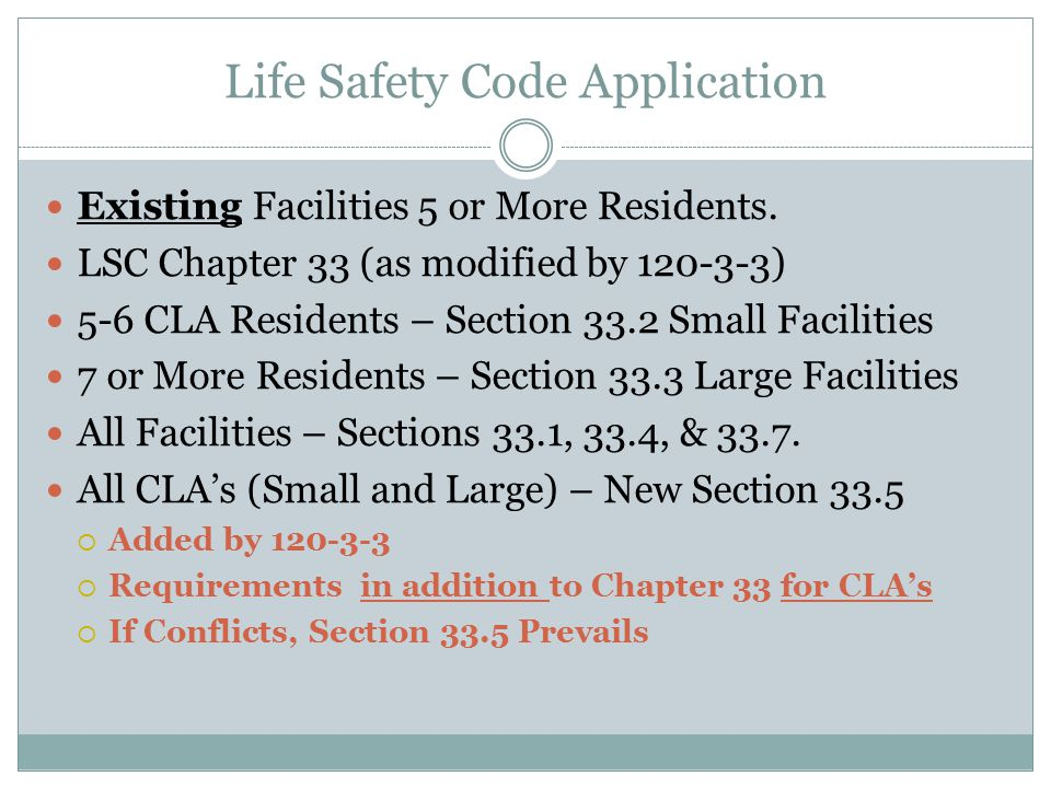 Life Safety Code Application