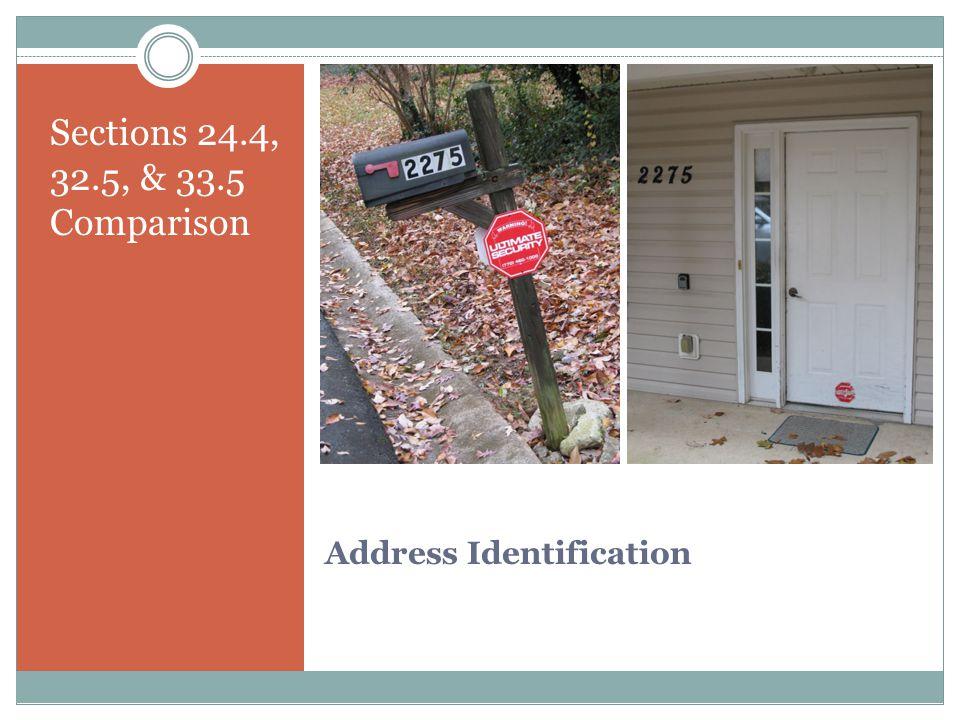 Address Identification