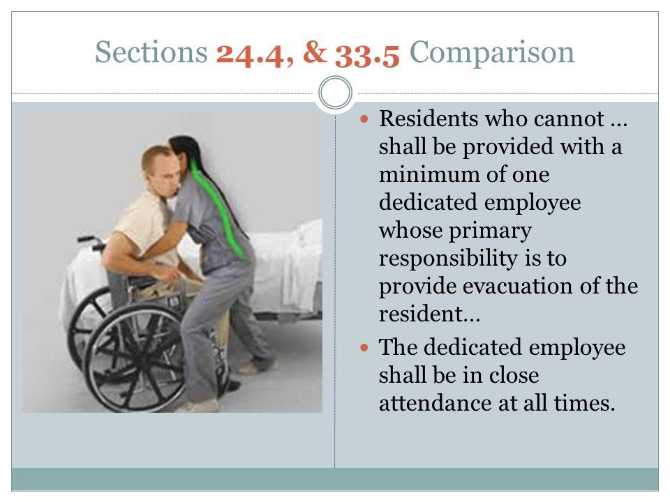 Sections 24.4, & 33.5 Comparison