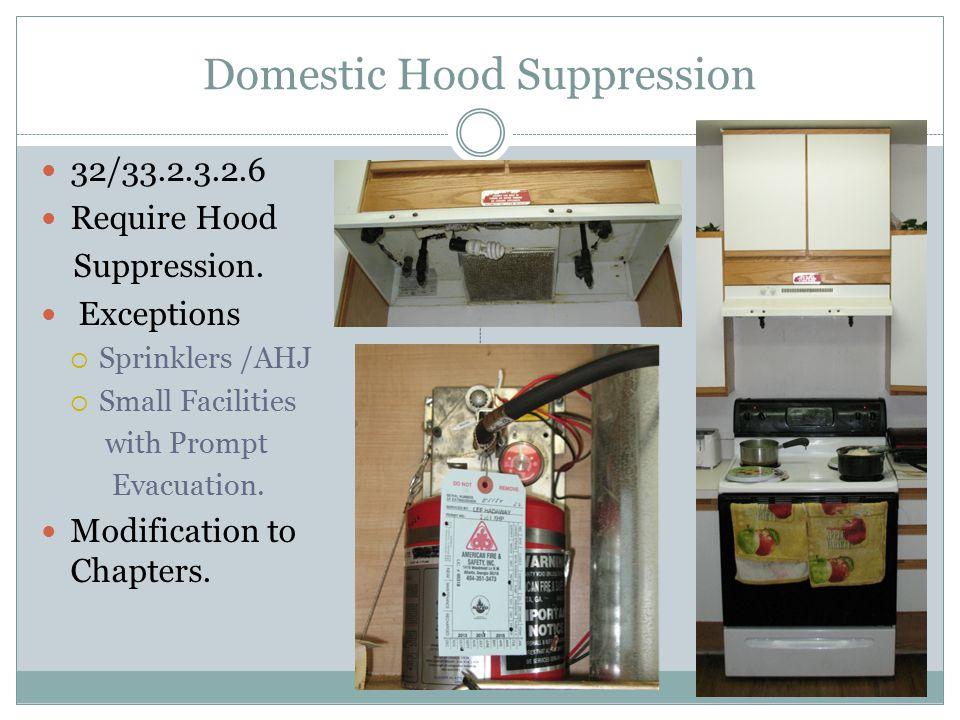 Domestic Hood Suppression