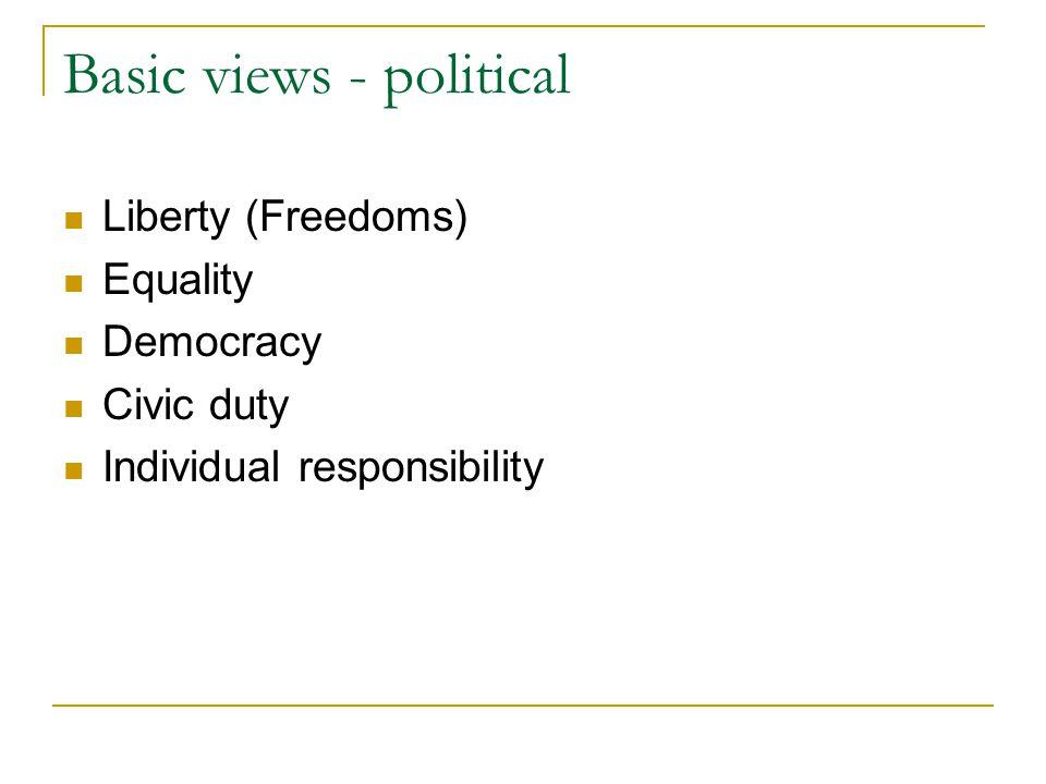 Basic views - political