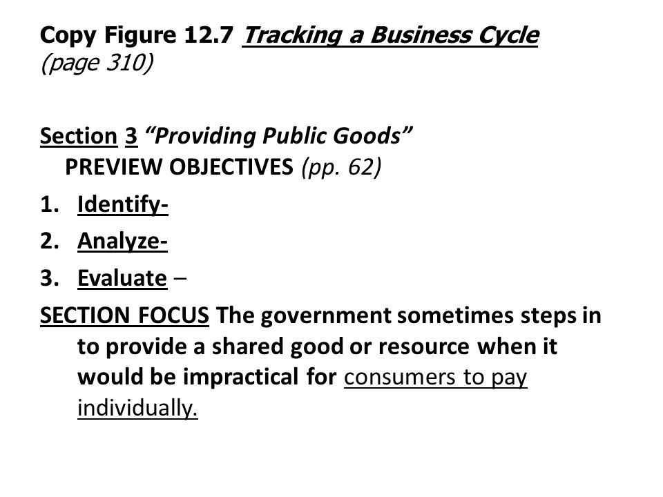 Copy Figure 12.7 Tracking a Business Cycle (page 310)