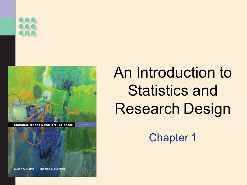 An Introduction to Statistics and Research Design
