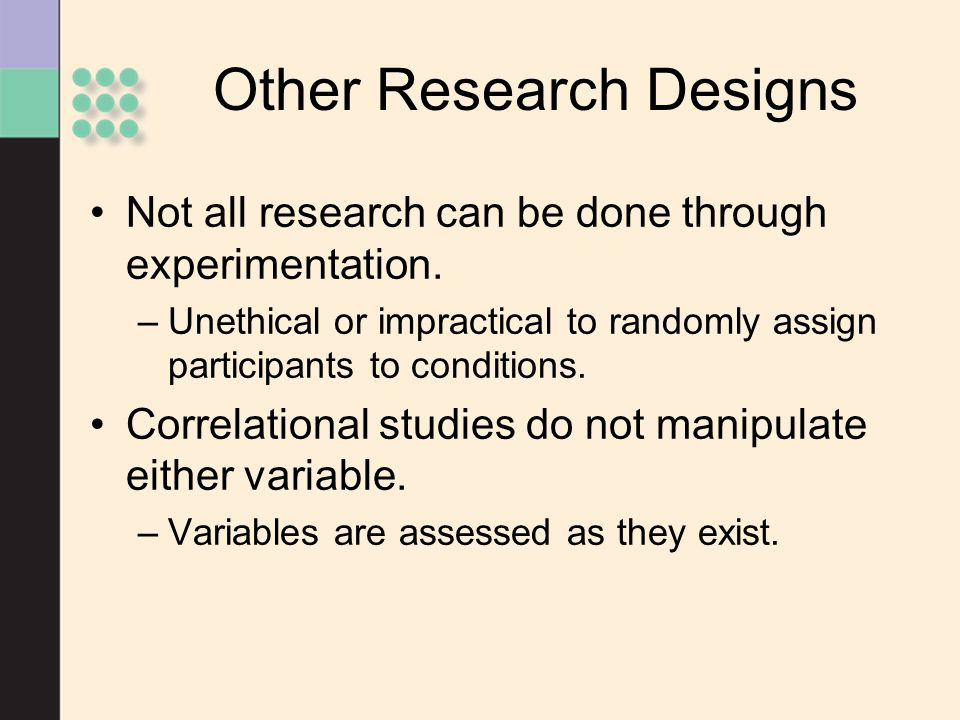 Other Research Designs